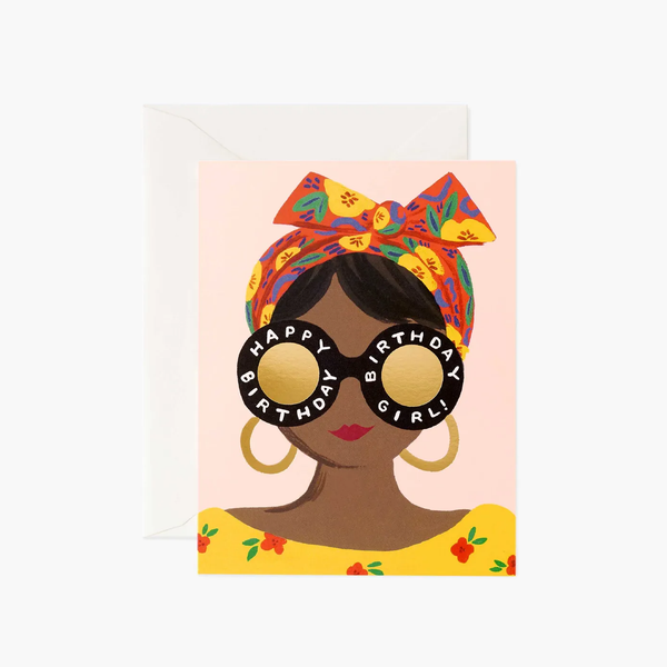 Rifle Paper Co. Scarf Girl Birthday Card