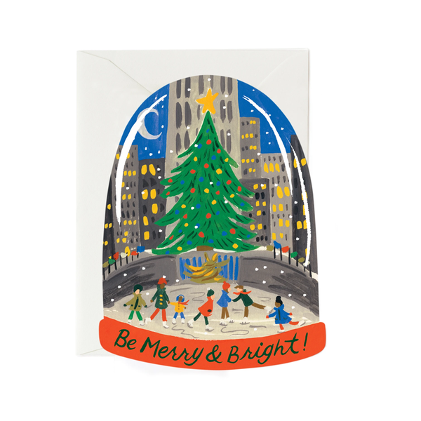 Rifle Paper Co. Skating In The City Christmas Card (Die Cut)