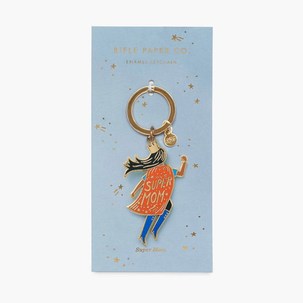 Rifle Paper Co. Soaring Super Mom Enamel Keychain