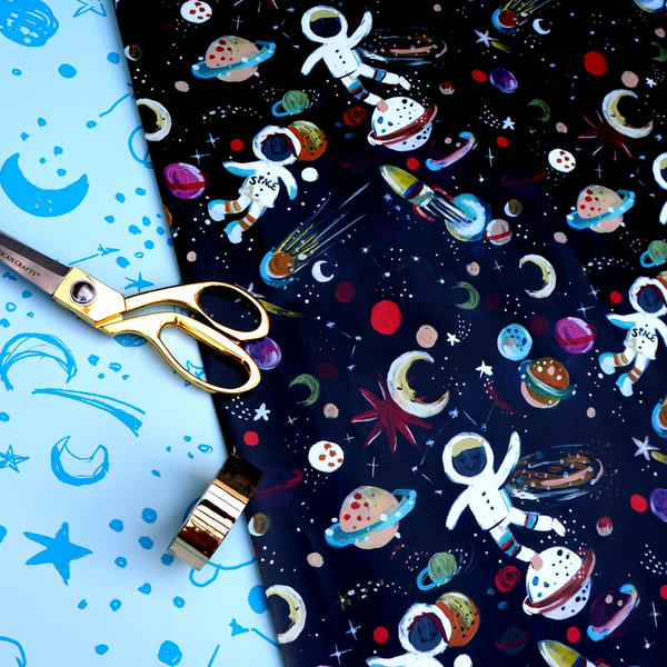 Eleanor Bowmer Spaceman Gift Wrap