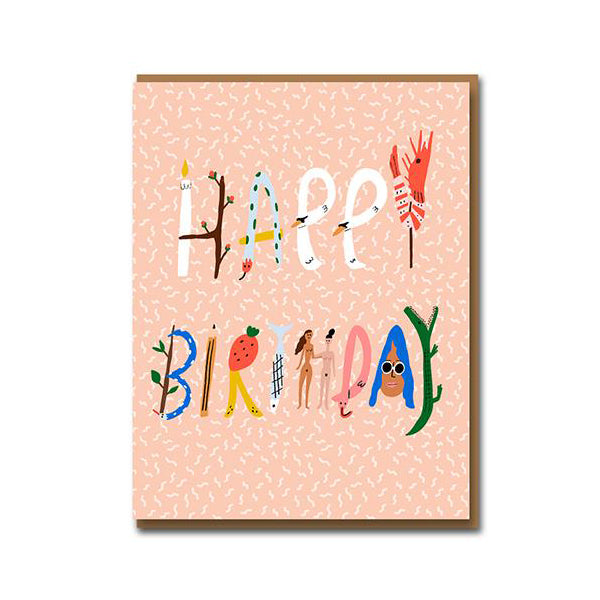 Carolyn Suzuki Spell It Out Birthday Card