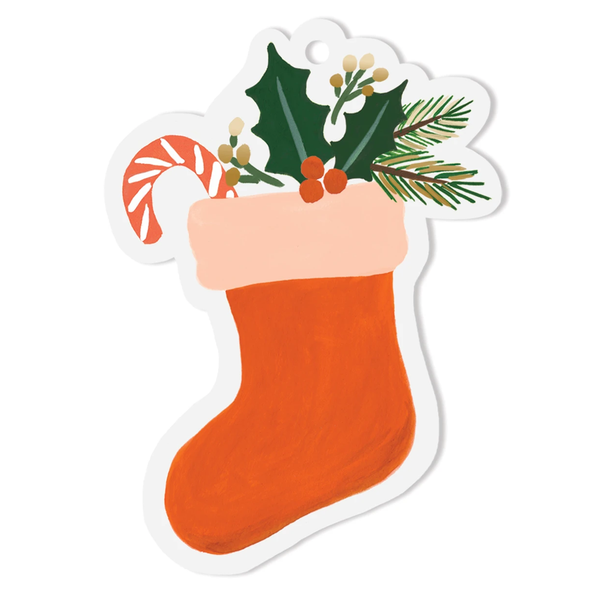 Rifle Paper Co. Christmas Stocking Die-Cut Gift Tags
