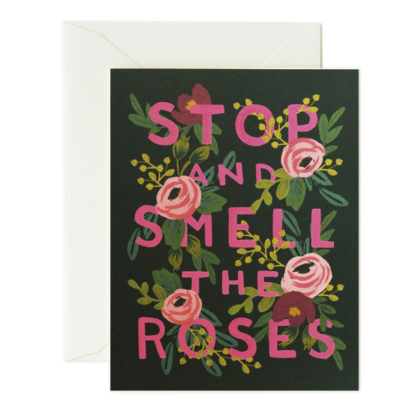 Rifle Paper Co. Stop & Smell the Roses Congrats Card