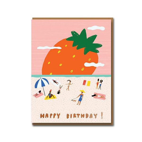 Carolyn Suzuki Strawberry Field Birthday Card