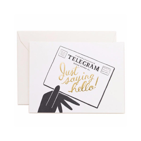 Rifle Paper Co. Hello Telegram Card