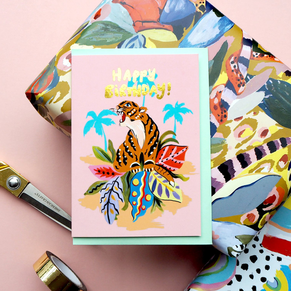 Eleanor Bowmer Happy Birthday Tiger Card
