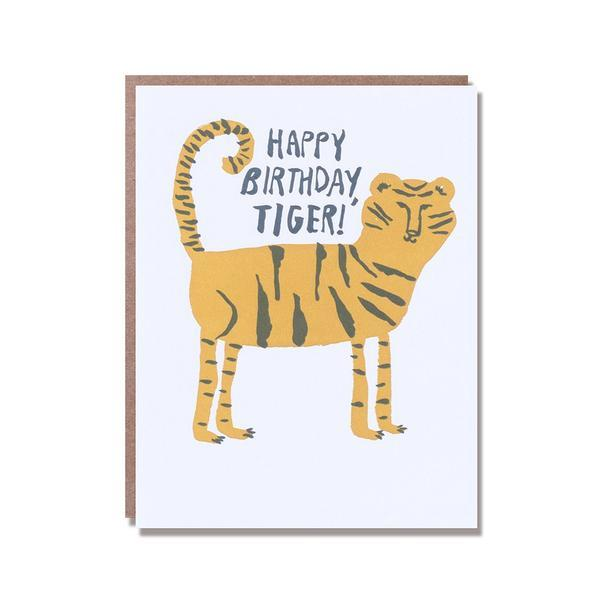Egg Press Happy Birthday Tiger Card