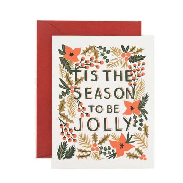 Rifle Paper Co. Classic Tis The Season Christmas Card