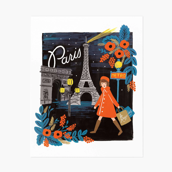 Rifle Paper Co. Travel Paris Art Print