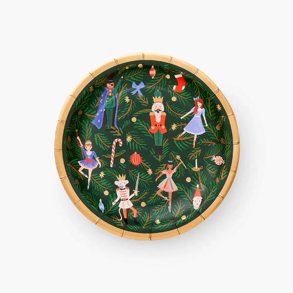 Rifle Paper Co. Holiday Small Plates - Nutcracker