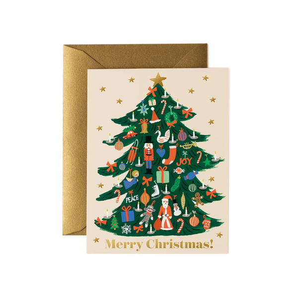 Rifle Paper Co. Trimmed Tree Christmas Card