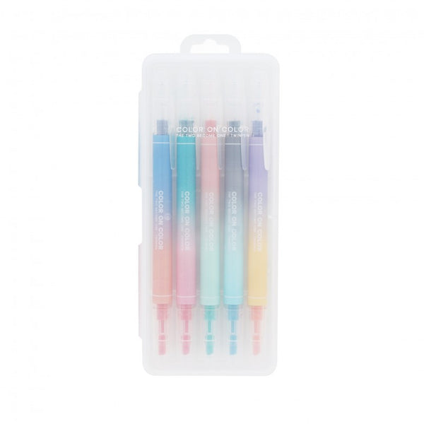 Livework Twin PLUS Pen 10 Color (Set of 5 Twin Tip Pens)