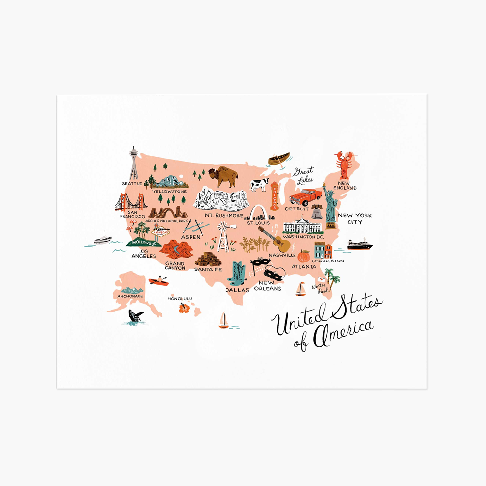 Rifle Paper Co. United States Of America Art Print