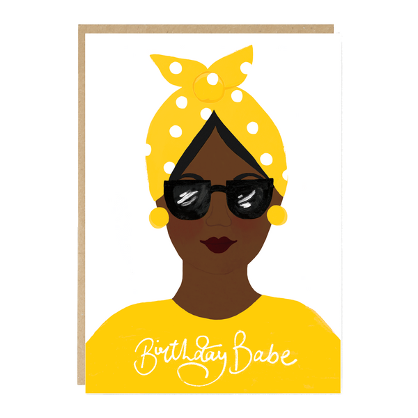 Jade Fisher Nadiya Birthday Card - Babe