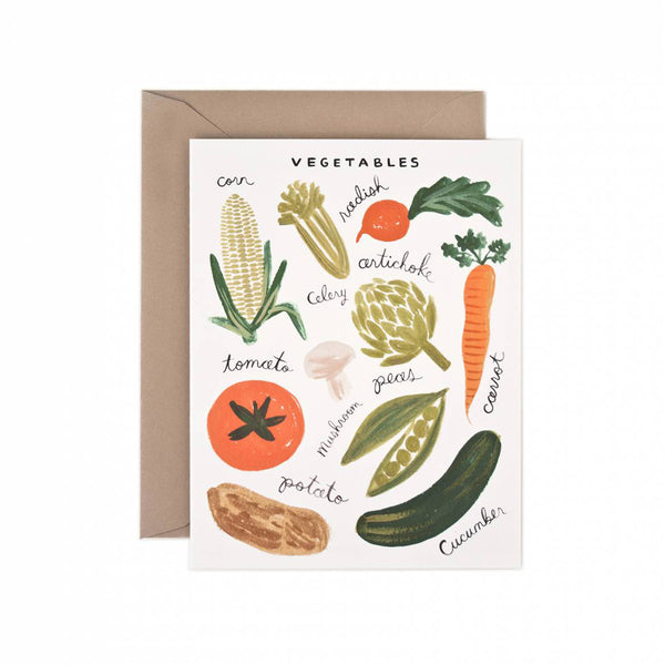Rifle Paper Co. Vegetables Card