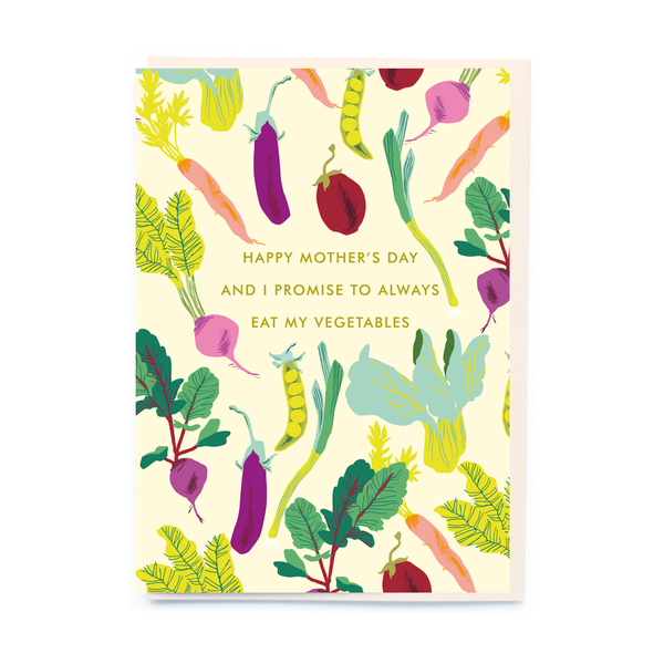noi Vegetables Mother's Day Card