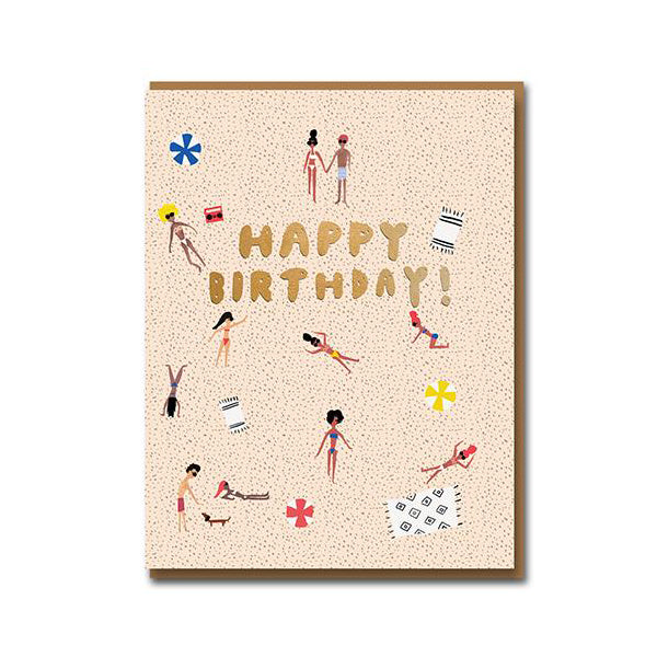 Carolyn Suzuki Venice Beach Birthday Card