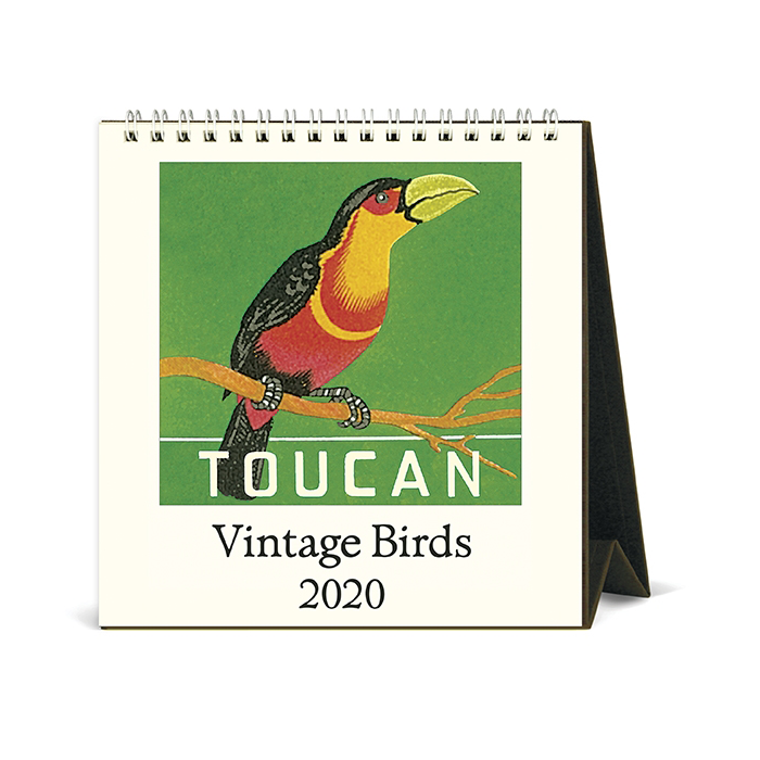 Cavallini & Co. 2020 Vintage Birds Desk Calendar