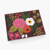 Rifle Paper Co. Vintage Blossoms Burgundy Card