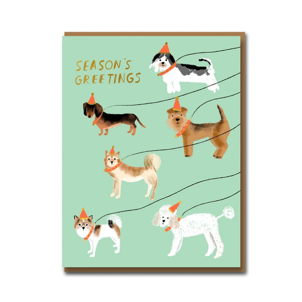 Carolyn Suzuki Out For A Winter Walk Christmas Card Set