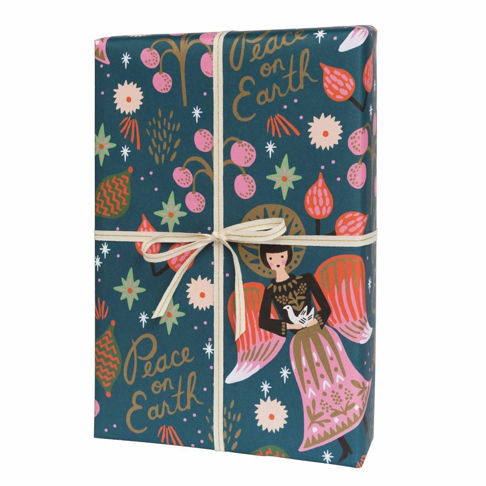 Rifle Paper Co. Peace On Earth Angel Christmas Gift Wrap