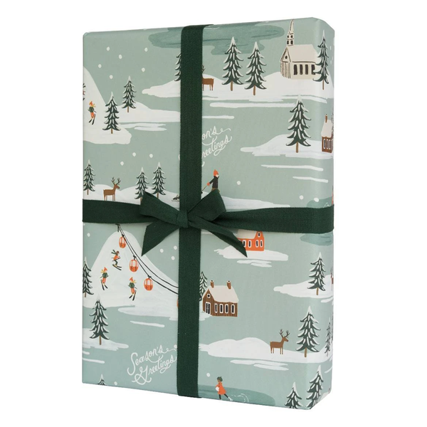Rifle Paper Co. Holiday Snow Scene Christmas Gift Wrap