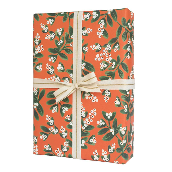 Rifle Paper Co. Mistletoe Christmas Gift Wrap (Red)