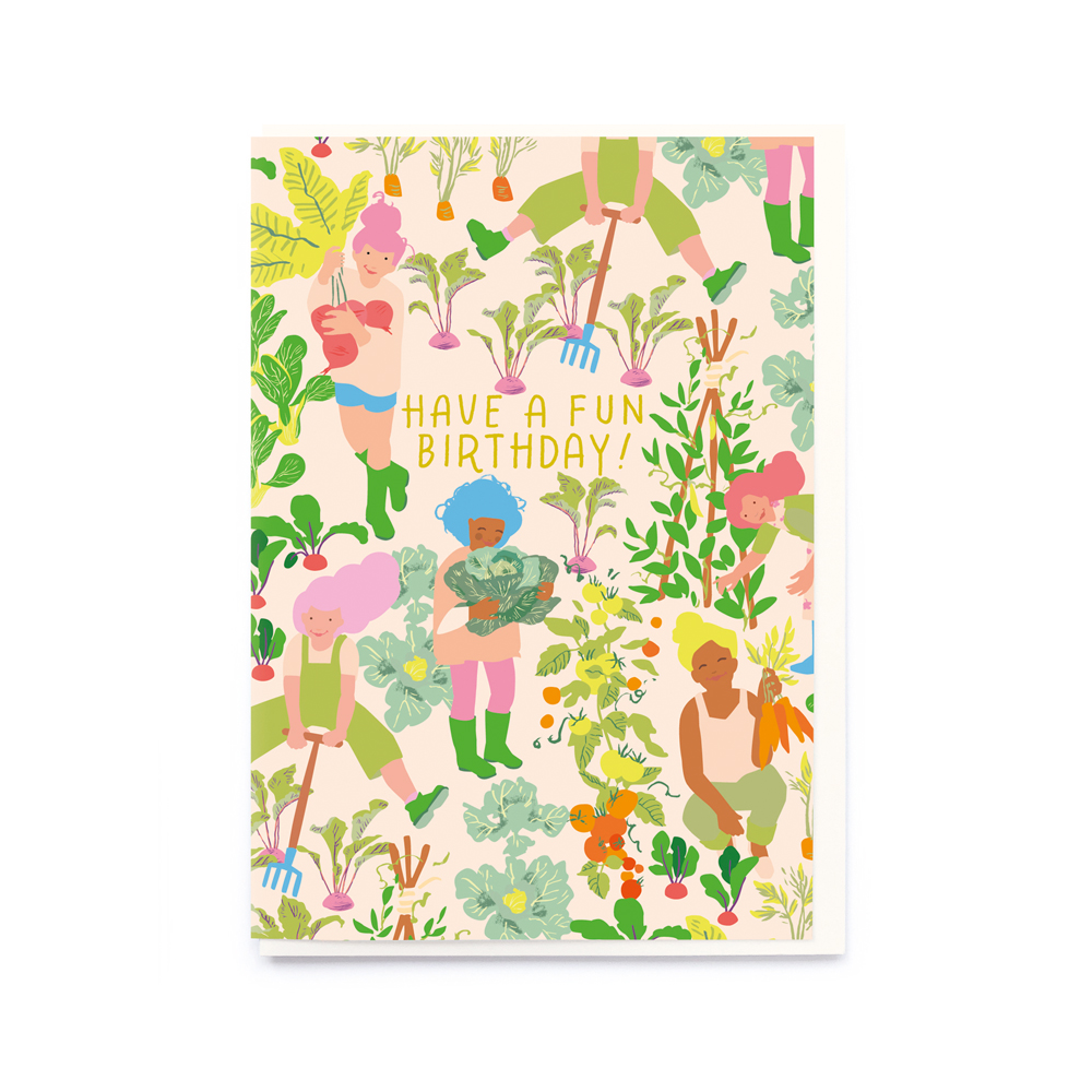 Noi Publishing We Love Our Vegetables Birthday Card