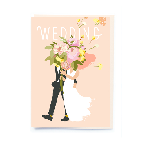 noi Wedding bouquet Card