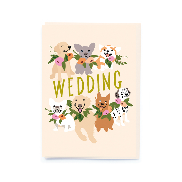 noi Wedding Doggies Card