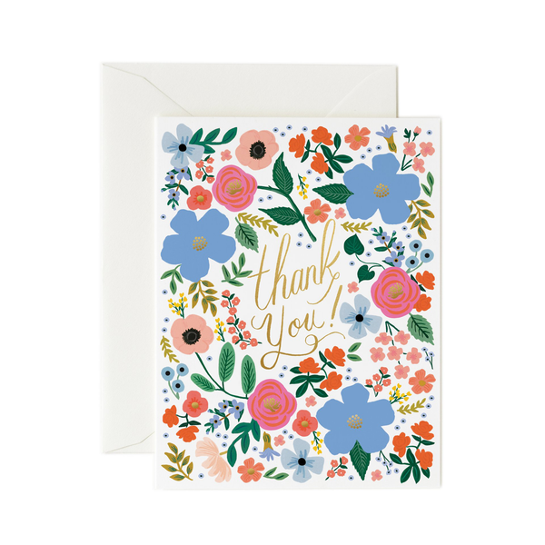 Rifle Paper Co. Wild Rose Thank You Card SET