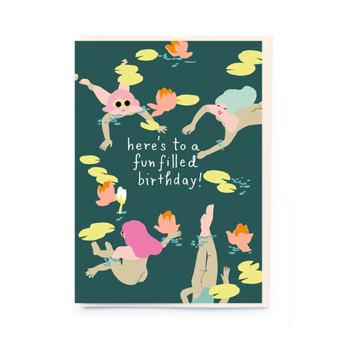 noi Wild Swimmers Birthday Card
