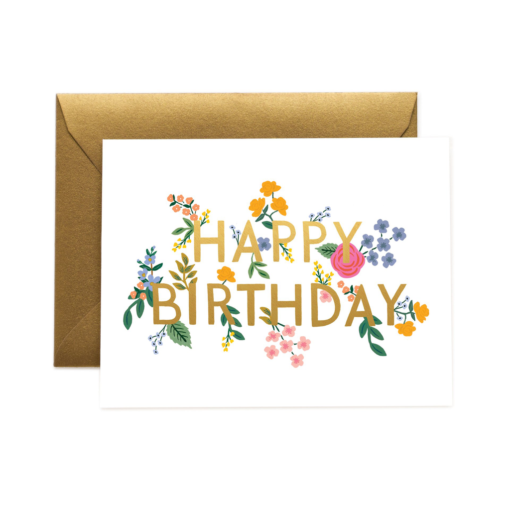 Rifle Paper Co. Wildwood Birthday Card