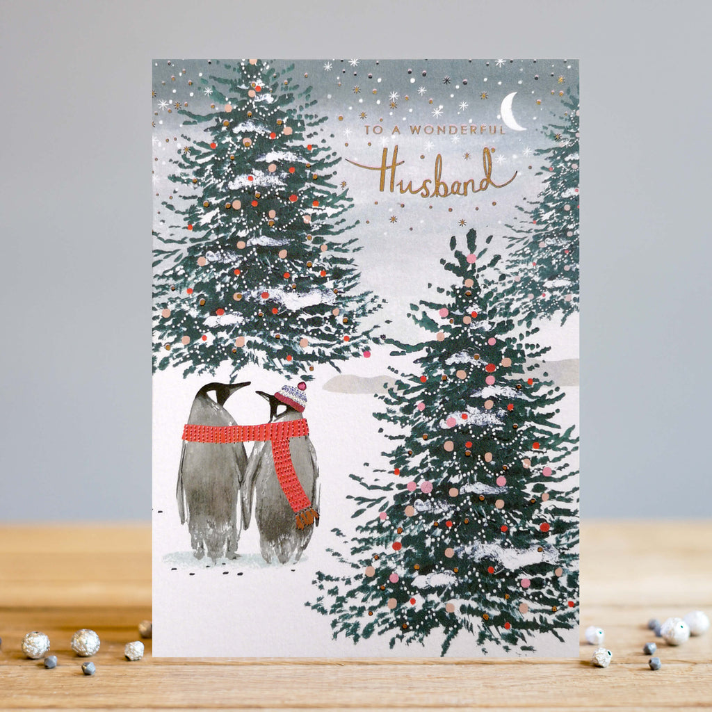 Louise Tiler Wonderful Husband Christmas Card