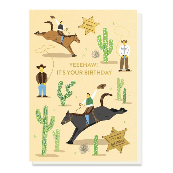 Stormy Knight Yeeehaw Birthday Card