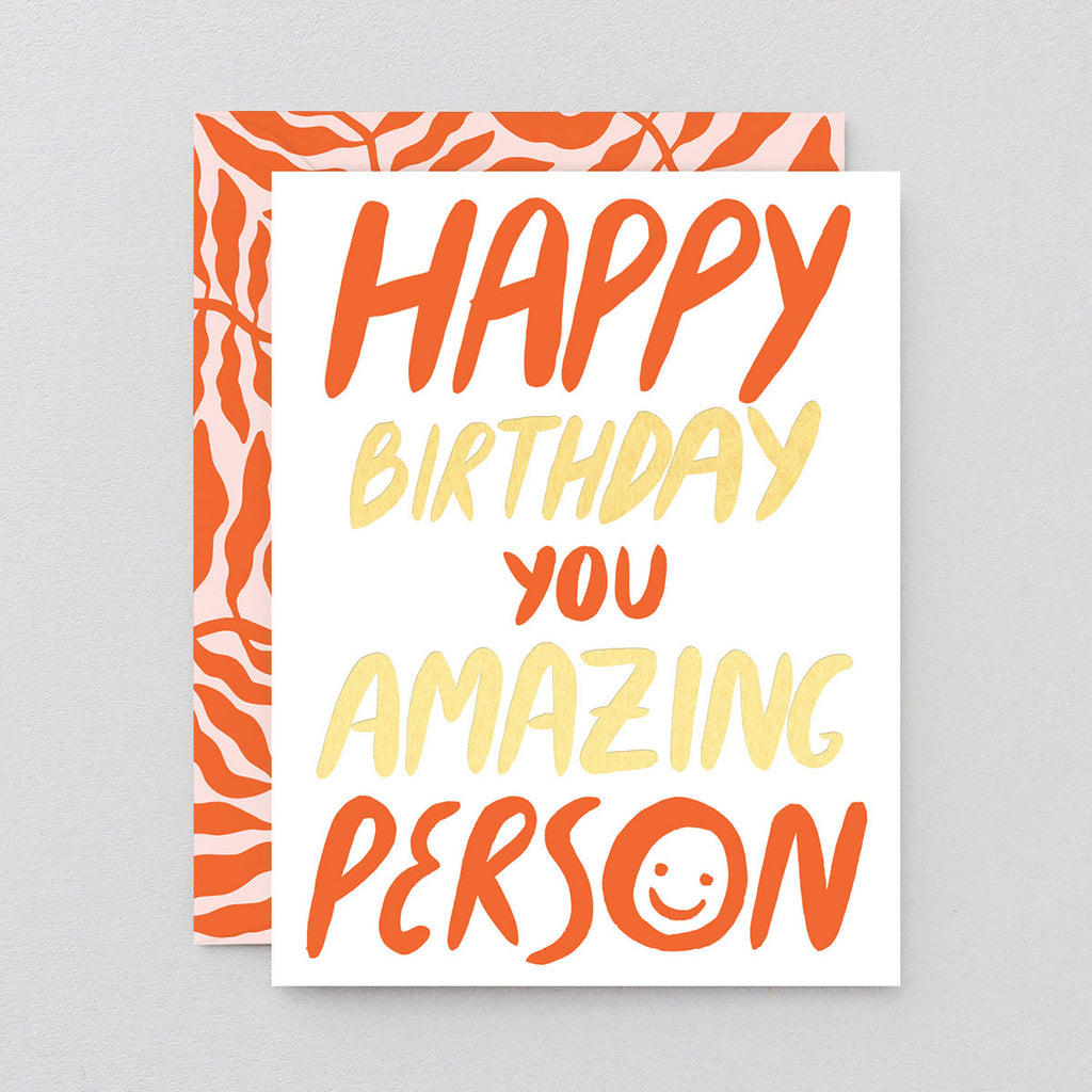 Linnéa And-Ast Happy Birthday Amazing Person Card