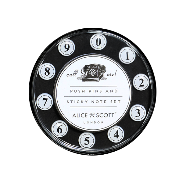 Alice Scott Push Pins & Sticky Notes - Call Me