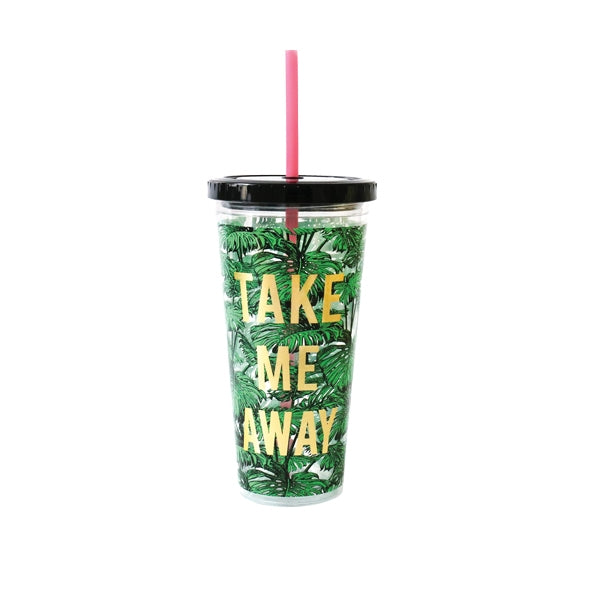 Alice Scott Tumbler with Straw - Take Me Away