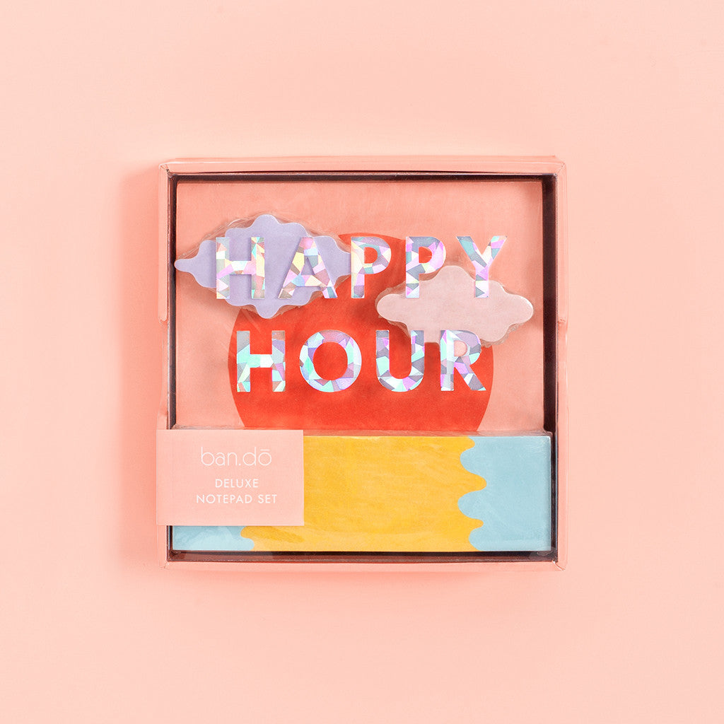 Ban.do Deluxe Notepad Set - Happy Hour