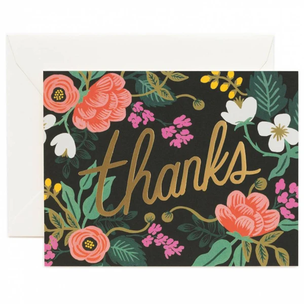 Rifle Paper Co. Birch Thanks Card SET