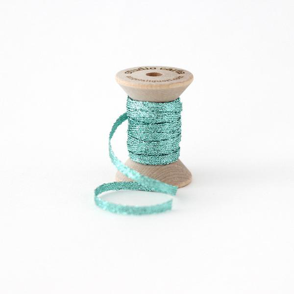 Studio Carta Metallic Braided Ribbon - Aquamarine