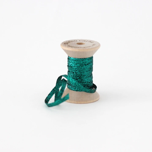 Studio Carta Metallic Braided Ribbon - Emerald