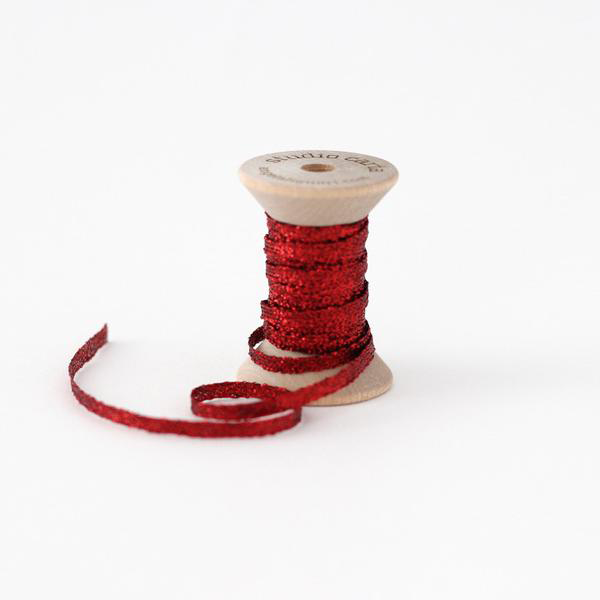 Studio Carta Metallic Braided Ribbon - Red