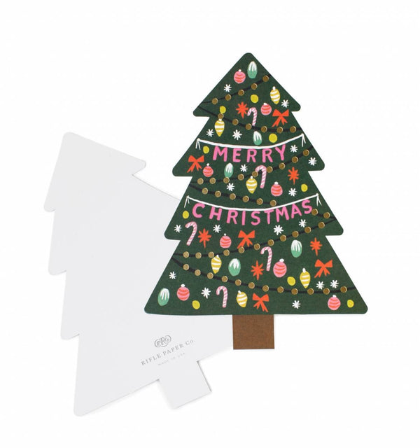 Rifle Paper Co. Christmas Tree Christmas Card SET