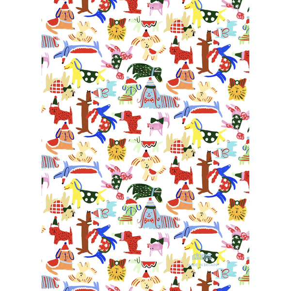 Eleanor Bowmer Christmas Dogs Gift Wrap