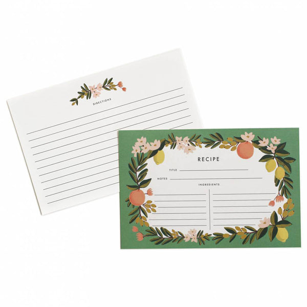 Rifle Paper Co. Citrus Floral Recipe Cards
