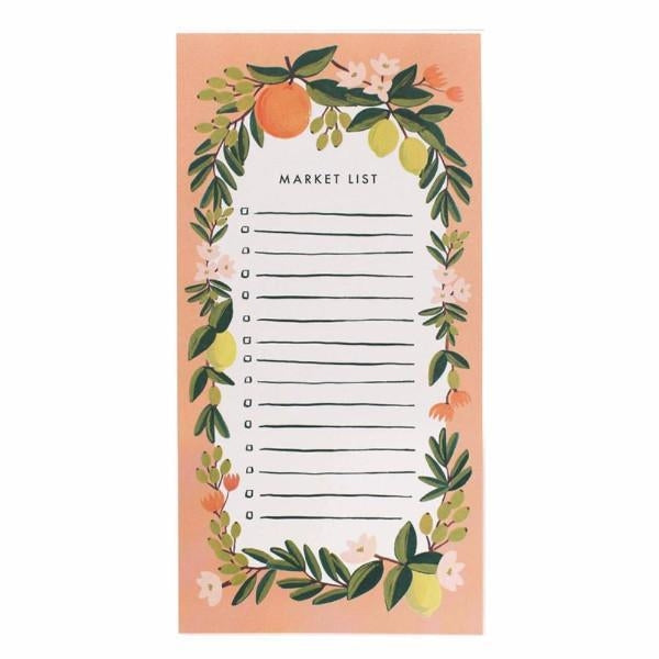 Rifle Paper Co. Citrus Floral Market Pad - Coral
