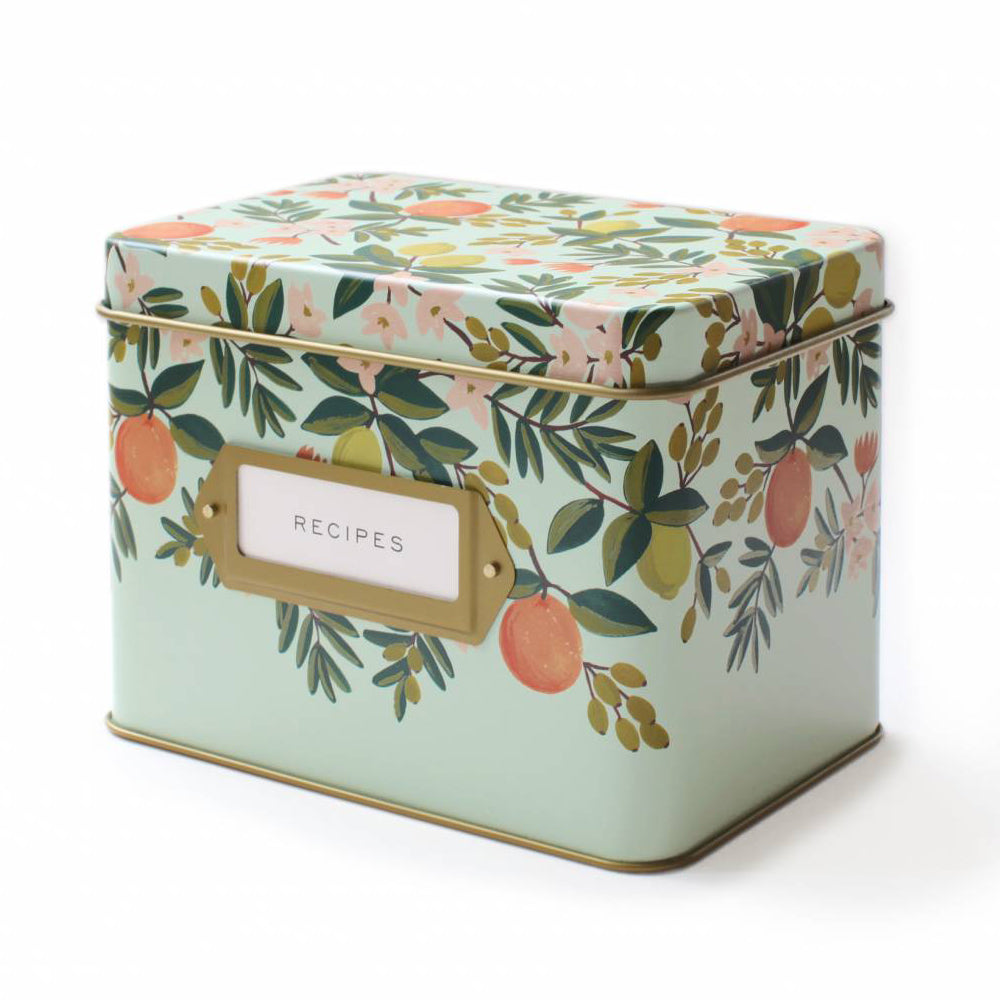 Rifle Paper Co. Citrus Floral Recipe Box