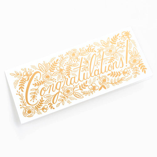 Rifle Paper Co. Champagne Floral Congrats Card