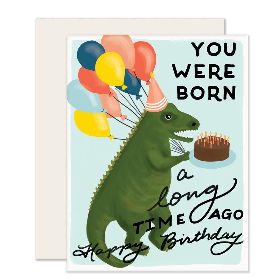 Slightly Stationery Dino Birthday Card